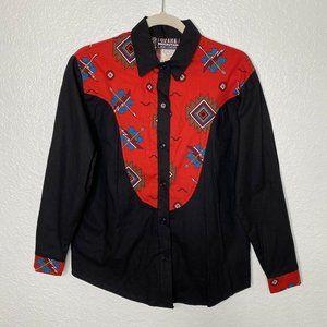 Ozark Mountain Southwestern Shirt Button Up